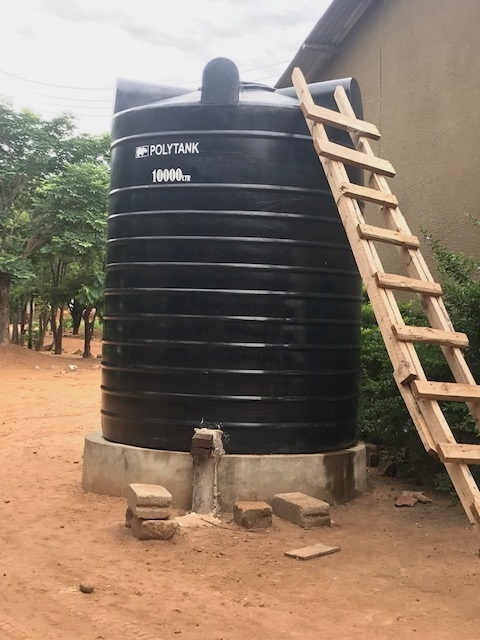Vattentank bekostad av vänskola i Svedala